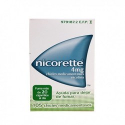 NICORETTE 4 MG 105 CHICLES