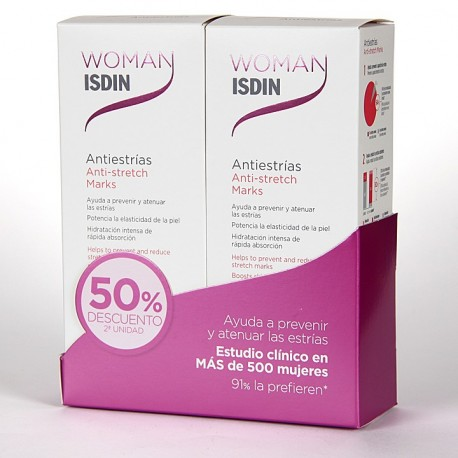 ISDIN WOMAN PACK ANTIESTRIAS 250 ML 50% 2ª UNIDAD