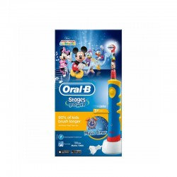 ORAL B CEPILLO DENTAL ELÉCTRICO RECARGABLE INFANTIL MICKEY STAGES +3 AÑOS SUAVE