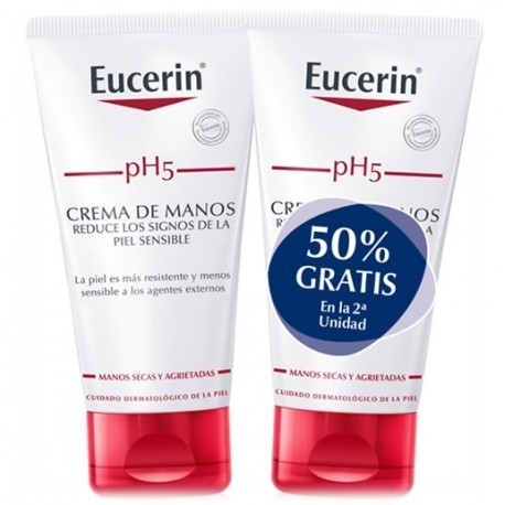 EUCERIN DUPLO CREMA DE MANOS PH5 2X75 ML