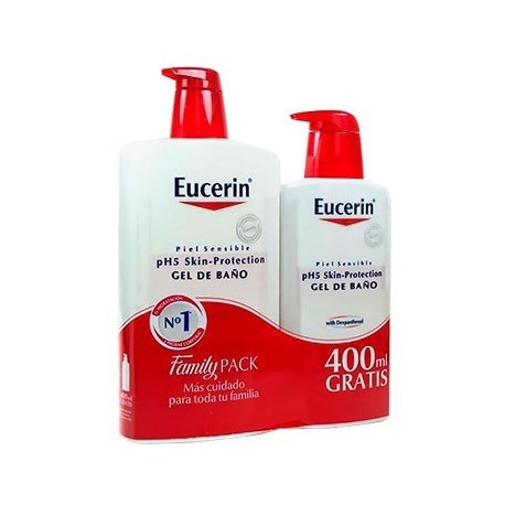 EUCERIN PACK GEL DE BAÑO 1L + 400ML REGALO