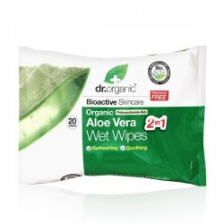 DR ORGANIC ALOE VERA WET WIPES 20U