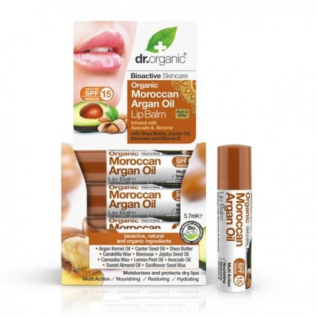 DR ORGANIC MOROCCAN ARGAN OIL LIP BALM 5,7ML