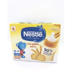 NESTLE LECHE Y CEREALES CON GALLETA MARÍA TETRABRICK 2X250ML
