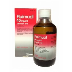 FLUIMUCIL 40 MG/ML SOLUCION ORAL 200 ML