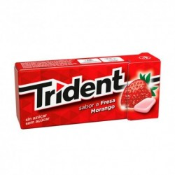 TRIDENT CHICLES FRUIT FRESA ACIDA GRAJEAS